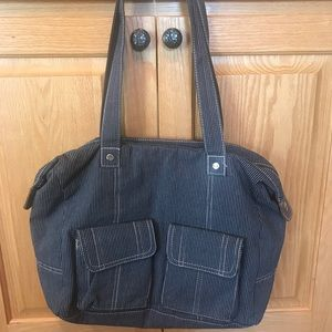 Thirty-One Canvas Zippered Tote with Pockets